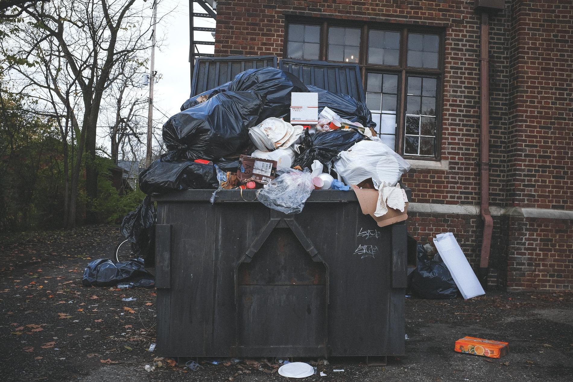 Rotten Food Dumpster