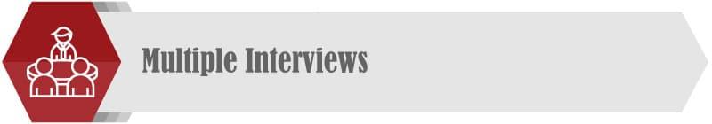 Conduct multiple interviews when seeking a business coach.