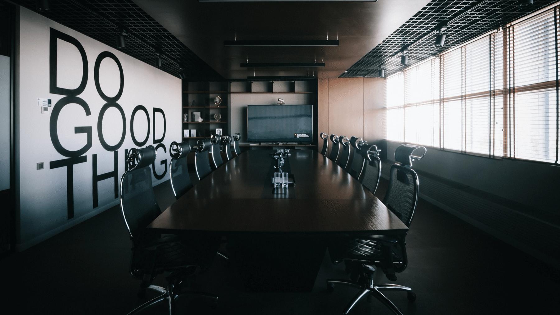Empty Board Room - Social Distancing