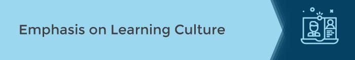 Emphasis on Learning Culture